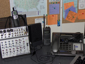PLA Radio mixer and phone - click to enlarge