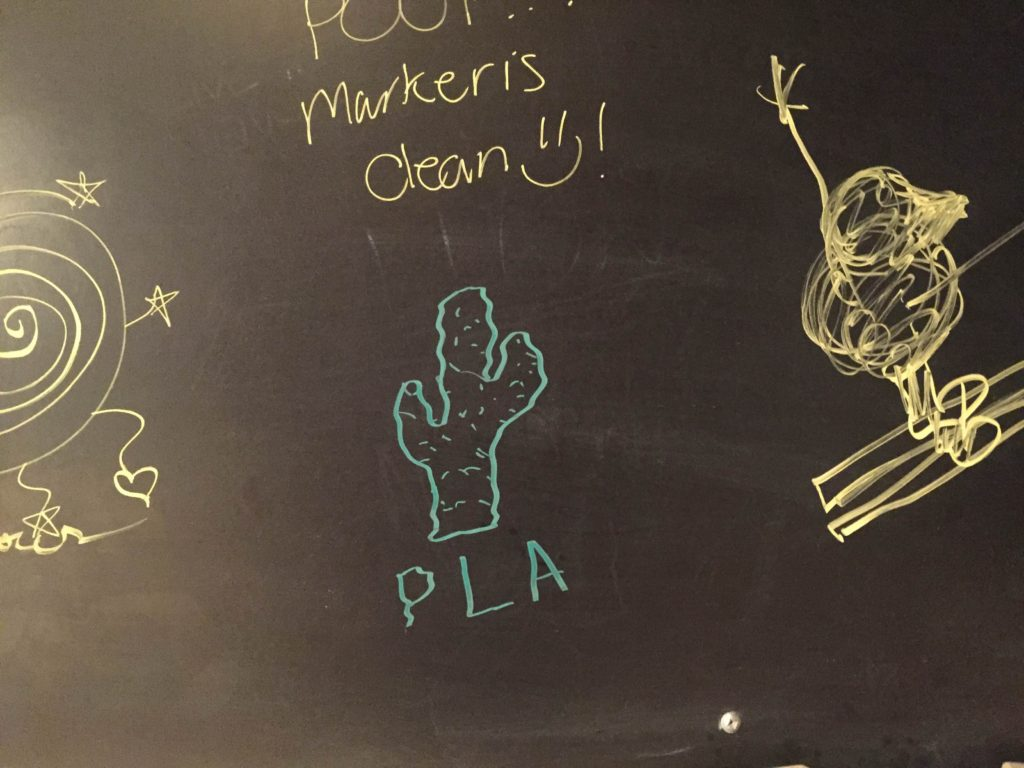 Thanks for sending this picture of bathroom graffiti, Arlo!